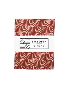 Swedish Linens | Ledikant hoeslaken Seashells | Burgundy Red