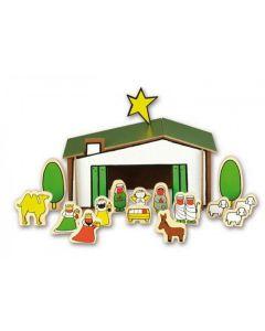 Houten kerststal van Dick Bruna
