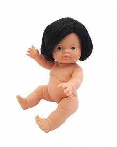 Paola Reina   Babypop Aziatisch meisje met haar (34 cm)
