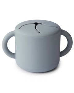 Mushie   Siliconen Snack Cup   Stone
